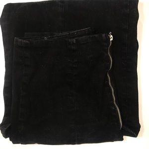 Forever 21 Women's Black Denim Flare Ankle Pants